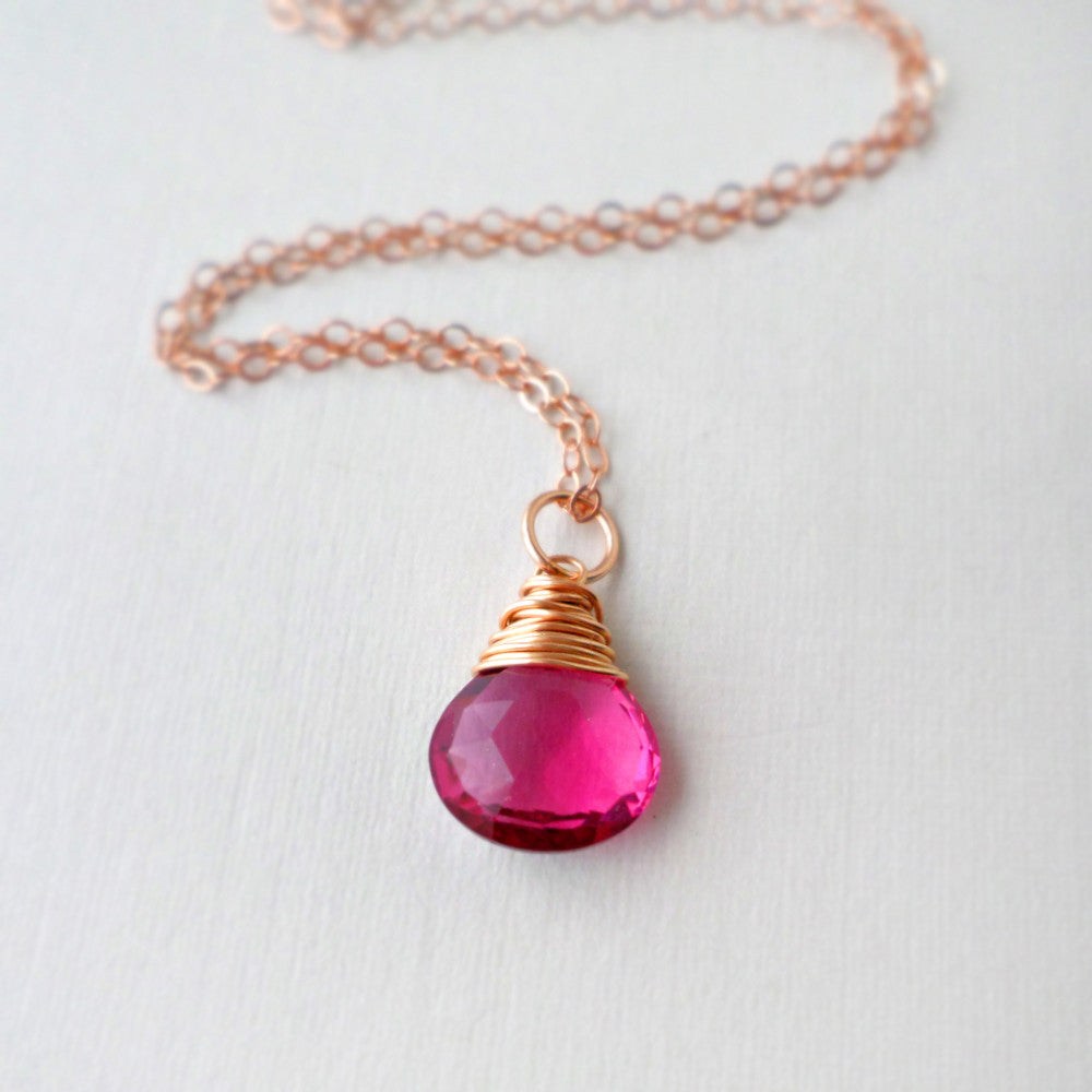 Hot Pink Lucy Necklace