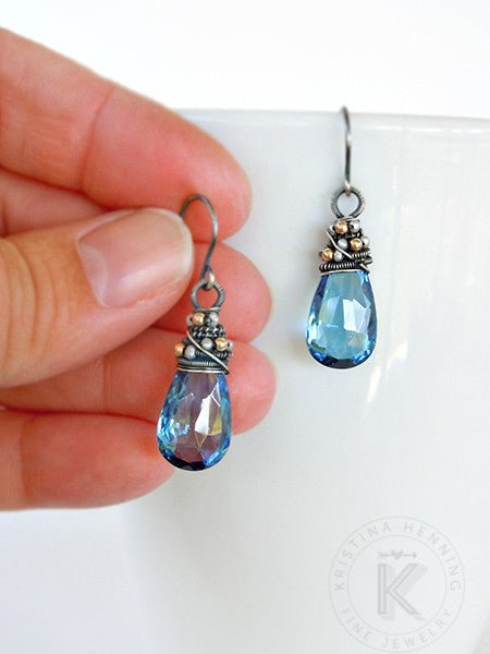 Blue quartz gemstone Ophira earrings