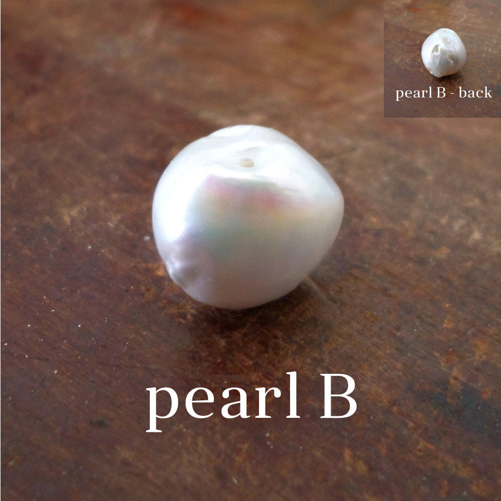 Elaine Necklace - Pearl & Silver