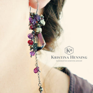 Asymmetrical Ametrine Earrings