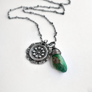 Tulla Necklace with Chrysocolla