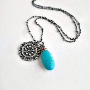 Tulla Necklace with Turquoise