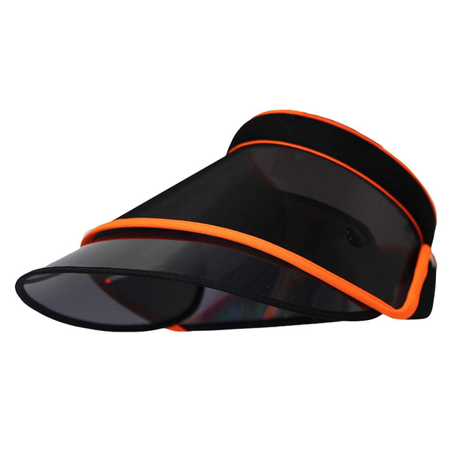 Vurning Sun Transparent Visor Hat UV Protection Summer Plastic Cap - VURNING