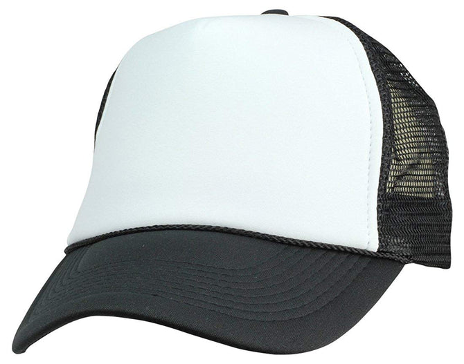 Vurning Two Tone Trucker Hat Summer Mesh Cap with Adjustable Snapback Strap - VURNING