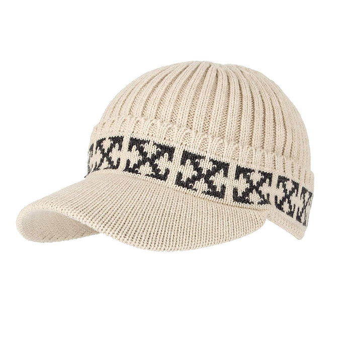 Vurning Winter Knit Visor Beanie Hat Baseball Watch Cap CRQ1102 - VURNING