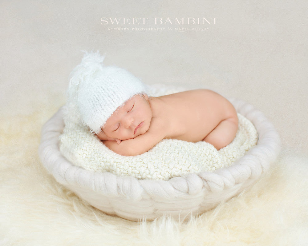 Blanket White / With Tassel Snuggle Soft - The Little Beanie  - 7