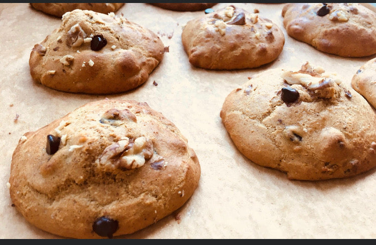 Protein Chocolate Chip Walnut Cookies