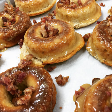 Maple Bacon Protein Doughnuts