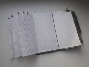1200 (2021-POCKET SIZE) MonWeeklies  for rings and TN (except for A5, Half Letter, Personal sizes, which are for rings only)