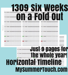 1309 6 Weeks on a Fold Out, Horizontal with Timeline for rings only -  2021