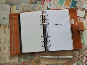 1217 (2021y.-PERSONAL SIZE) COMPACT MonWeeklies (not a foldout, with notes grid pages)  (for rings only)