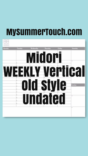 1702 Midori Weekly Vertical Old Style Undated for both rings and TNs