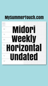 1703 Midori Weekly Horizontal Undated for both rings and TNs