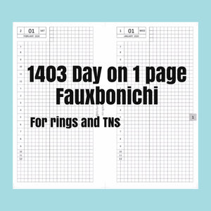 1403 (2021-PERSONAL WIDE SIZE) Day on 1 page FAUXBONICHI - for rings and TNs