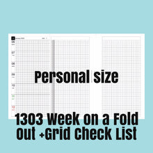 Load image into Gallery viewer, 1303 (2021-PERSONAL SIZE) Week on a Fold Out+Grid Check List-for rings and TNs