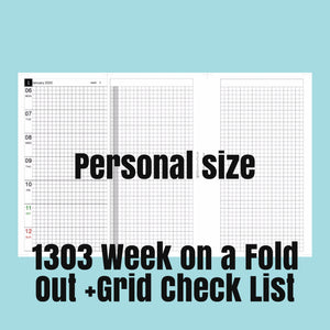 1303 (2021-PERSONAL SIZE) Week on a Fold Out+Grid Check List-for rings and TNs