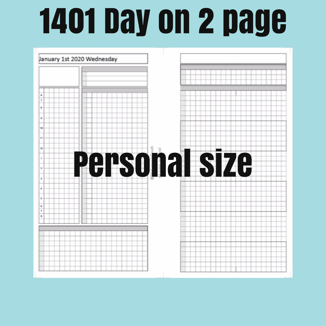 1401 (2021-PERSONAL SIZE) Day on 2 page -For rings and TNs