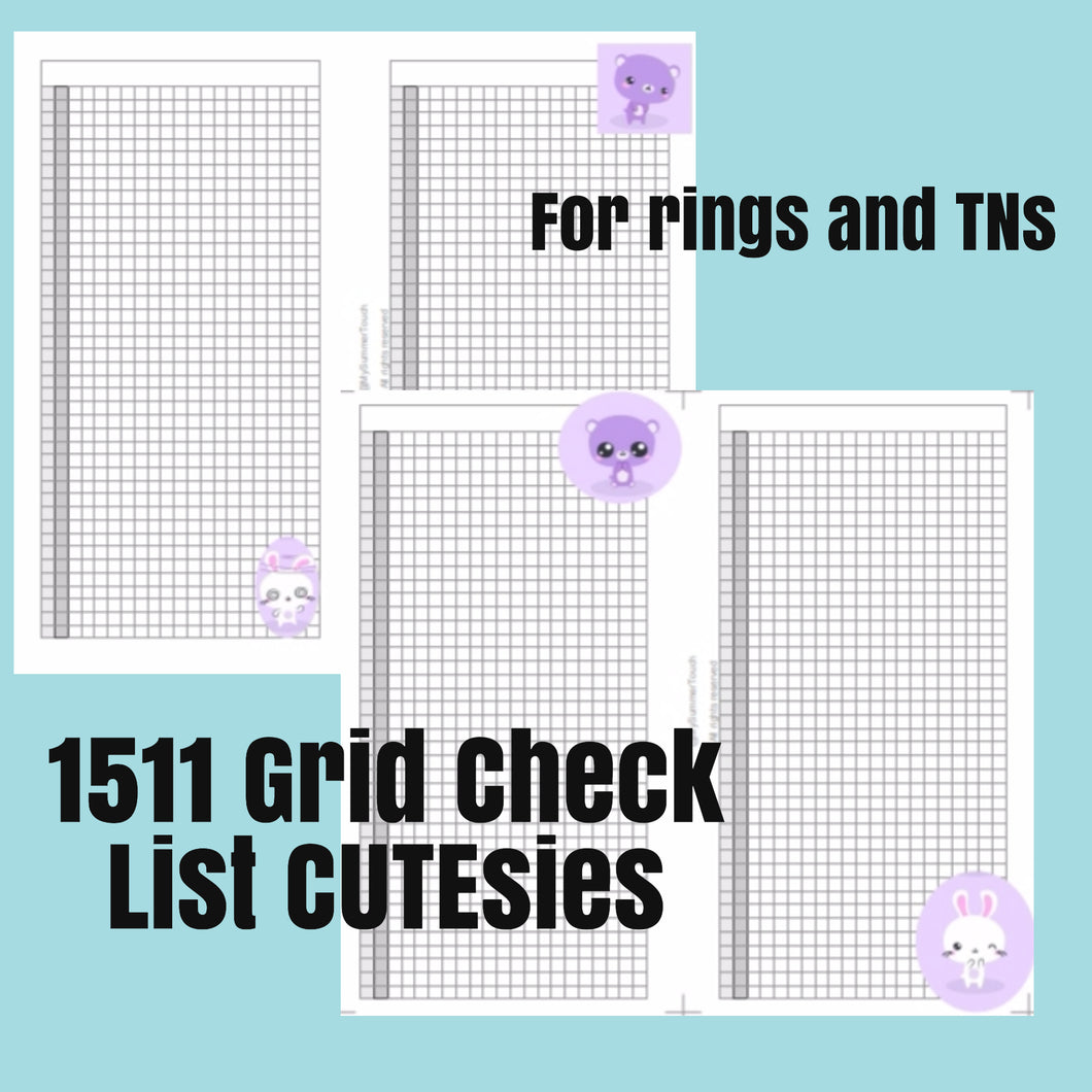 1511CUTEsies GRID Check list for both rings and TNs+ cover
