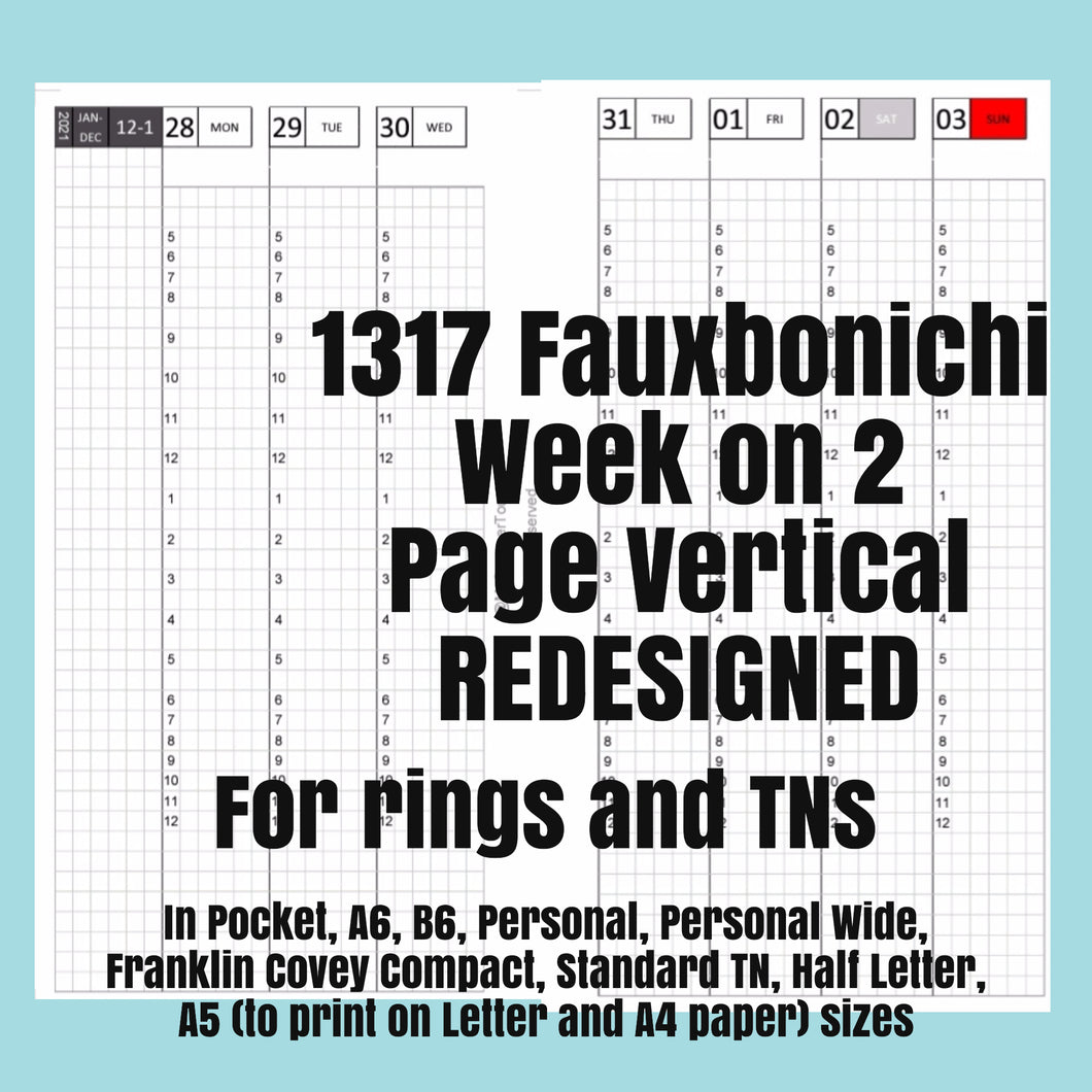 1317 Fauxbonichi Week on 2 Page Vertical-2021-for RINGS and TN (A5 to print on Letter size paper is for rings only!)-REDESIGNED