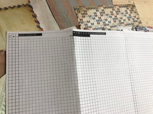1602 Goal Achiever - Weekly Goal Page 3 page Fold Out