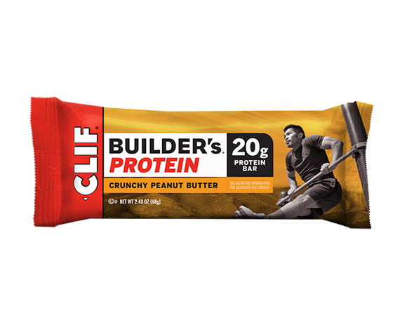 Clif Builders Bar Crunchy Peanut Butter- 12/box