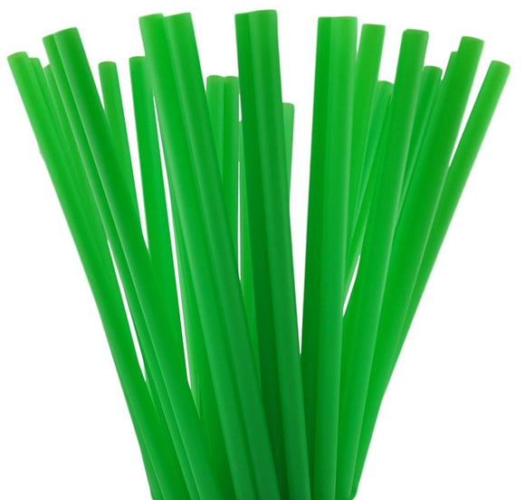 Giant Green Straws, Biodegradable, Wrapped -1,200 Count