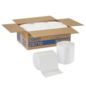 Center Pull Dry WIpes, 6 rolls/case