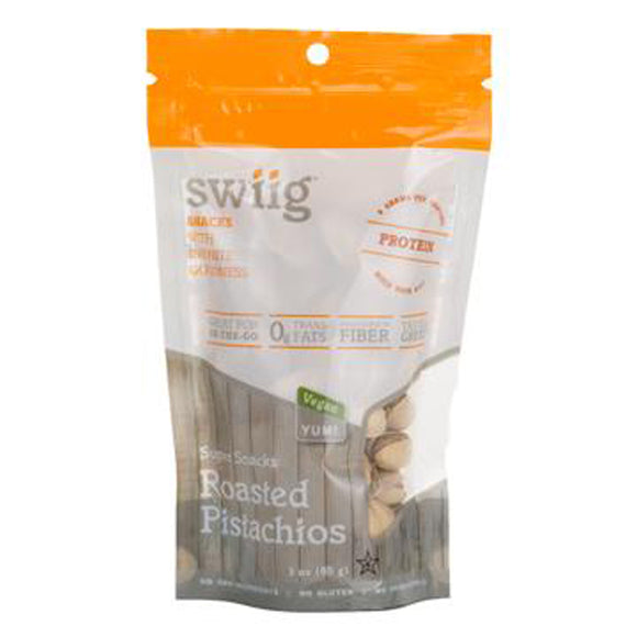 swiig Super Snacks - Pistachios 3oz bags- 6/case