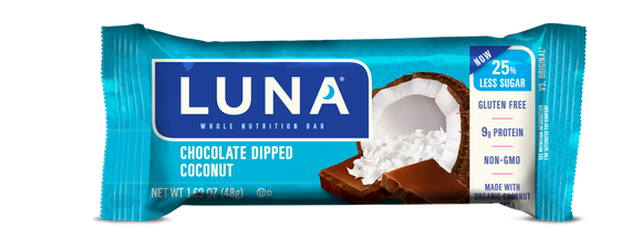 Luna Bar Chocolate Dipped Coconut - 15ct