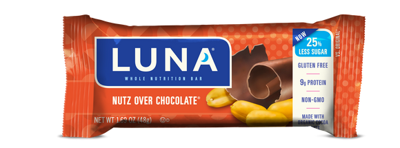 Luna Bar Nutz Over Chocolate - 15/case