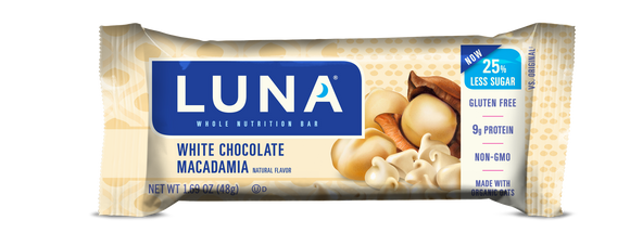 Luna Bar White Chocolate Macadamia - 15/case