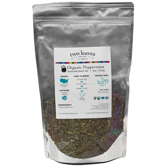Organic Peppermint Tea 1/4lb Loose