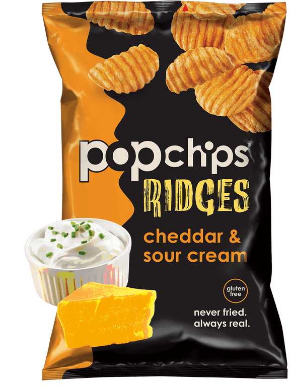 Pop Chips Ridges Cheddar Sour Cream - 24/.8oz