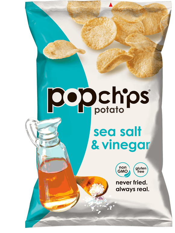 Pop Chips Sea Salt & Vinegar - 24/.8oz