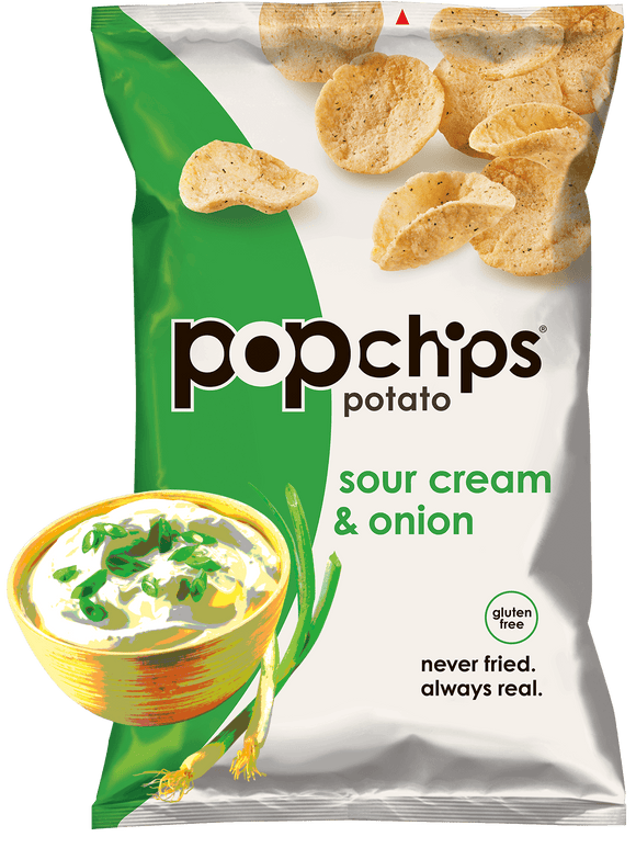 Pop Chips Sour Cream & Onion - 24/.8oz