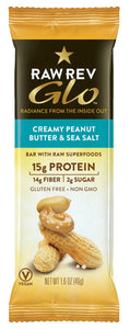 Creamy Peanut Butter & Sea Salt - Raw Revolution Glo Bars - 12ct