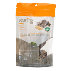 swiig Energy Bites Chocolate Chip & Peanut 3.5oz - 6ct