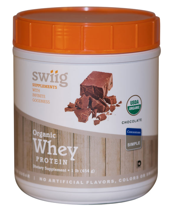 swiig Chocolate - Organic Whey Protein Concentrate 1lb