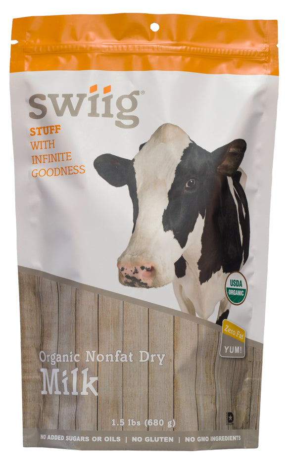 swiig Organic Nonfat Dried Milk 1.5lb bag