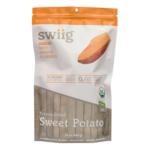 swiig Organic, Dried Sweet Potato - 1lb Bag