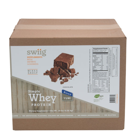 swiig Simple Whey Blend Chocolate (No Sugar Added) - 10lb