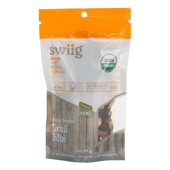 swiig Super Snacks - Trail Mix 3oz bags- 6/case