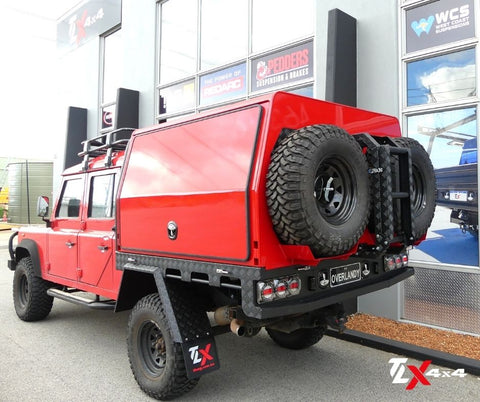 London Tangerine Red Lift Off Canopy Land Rover