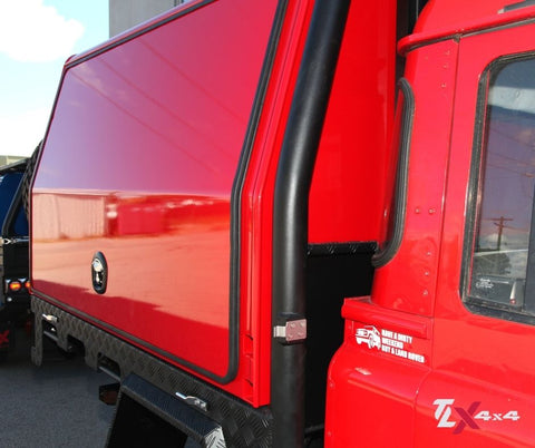 Red Land Rover Lift off Canopy by TLX4x4