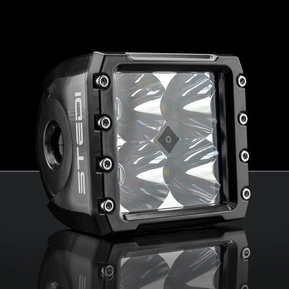 Stedi C-4 Black Edition Cube LED Light - Spot front view