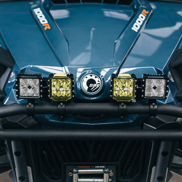 C-4 BLACK EDITION LED LIGHT CUBE | Flood fitted on 4WD