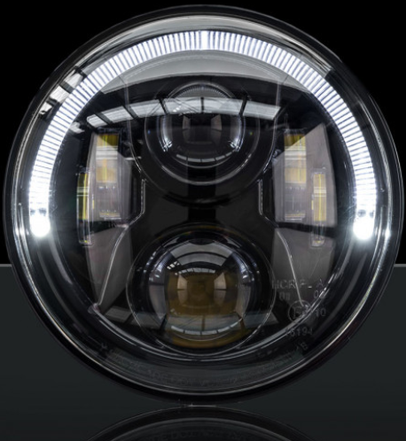 STEDI 7 INCH CARBON BLACK LED HEADLIGHT ADR APPROVED