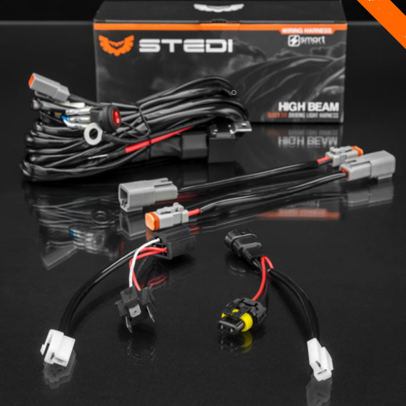 Buy STEDI PLUG AND PLAY HIGH BEAM DRIVING LIGHT WIRING SMART HARNESS in Perth WA online