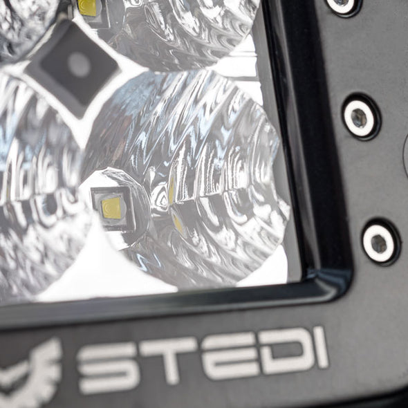 Stedi C-4 BLACK EDITION FLUSH MOUNT LED LIGHT | FLOOD Bottom Ride View