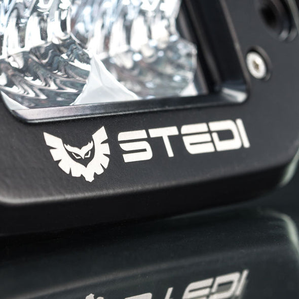 Stedi C-4 BLACK EDITION FLUSH MOUNT LED LIGHT | FLOOD Bottom View
